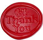 海外直輸入品 イタリア製 シーリングスタンプ Thank You